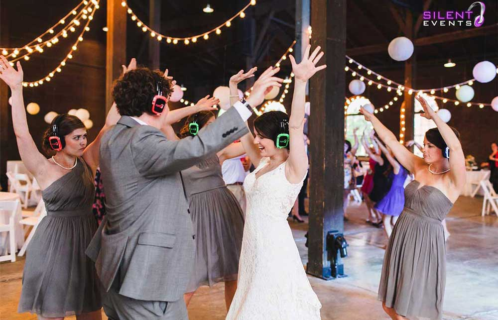 Silent Disco Wedding Reception
